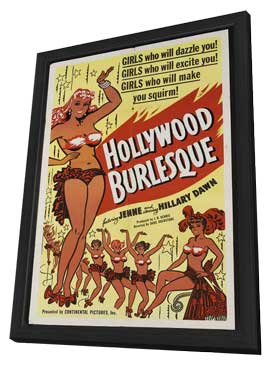 Hollywood Burlesque - 11 x 17 Movie Poster - Style B - in Deluxe Wood Frame