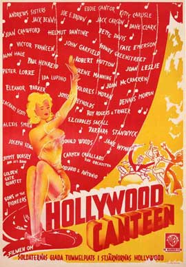 Hollywood Canteen - 11 x 17 Movie Poster - Swedish Style A