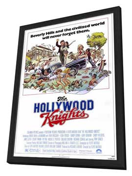 The Hollywood Knights - 27 x 40 Movie Poster - Style B - in Deluxe Wood Frame