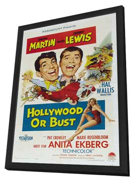 Hollywood or Bust - 27 x 40 Movie Poster - Style A - in Deluxe Wood Frame