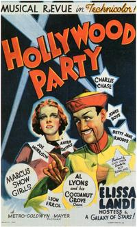 Hollywood Party - 11 x 17 Movie Poster - Style A