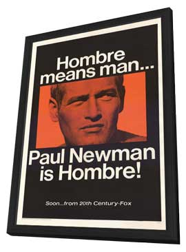 Hombre - 27 x 40 Movie Poster - Style A - in Deluxe Wood Frame