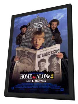 Home Alone 2: Lost in New York - 27 x 40 Movie Poster - Style A - in Deluxe Wood Frame