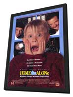 Home Alone - 27 x 40 Movie Poster - Style A - in Deluxe Wood Frame