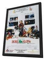 Home Alone - 27 x 40 Movie Poster - Style E - in Deluxe Wood Frame