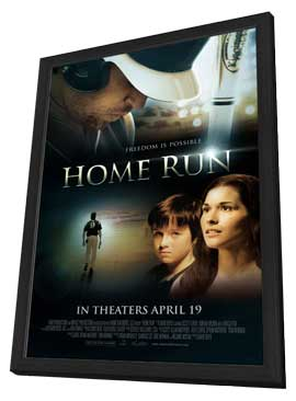 Home Run - 27 x 40 Movie Poster - Style A - in Deluxe Wood Frame