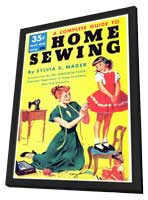 Home Sewing - 11 x 17 Retro Book Cover Poster - in Deluxe Wood Frame