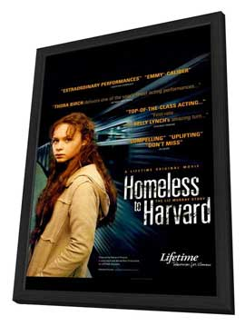 Homeless to Harvard: The Liz Murray Story - 11 x 17 Movie Poster - Style A - in Deluxe Wood Frame