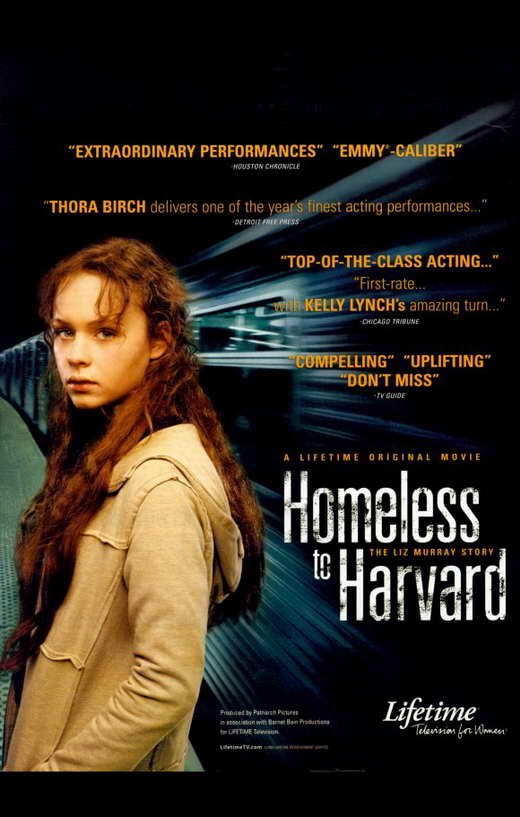 homeless to harvard One woman's journey from homeless to harvard as a child, liz murray dealt with the typical stresses of growing up but she also grappled with going days without food and living on the streets.