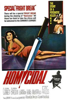 Homicidal - 11 x 17 Movie Poster - Style A