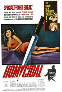 Homicidal - 27 x 40 Movie Poster - Style A