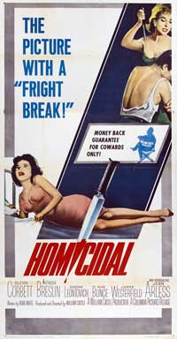 Homicidal - 20 x 40 Movie Poster - Style A