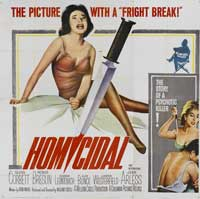 Homicidal - 30 x 30 Movie Poster - Style A