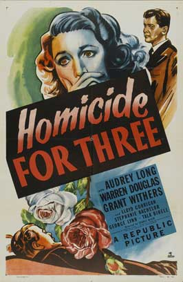 Homicide for Three - 27 x 40 Movie Poster - Style A