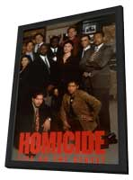 Homicide: Life on the Street - 11 x 17 Movie Poster - Style D - in Deluxe Wood Frame