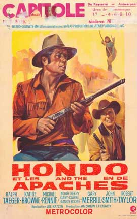 Hondo and the Apaches - 11 x 17 Movie Poster - Belgian Style A