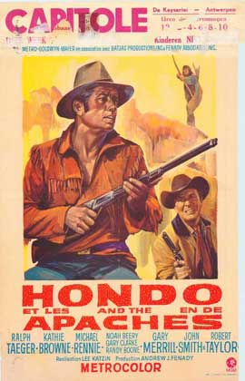 Hondo and the Apaches - 27 x 40 Movie Poster - Belgian Style A