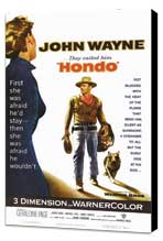 Hondo - 27 x 40 Movie Poster - Style A - Museum Wrapped Canvas