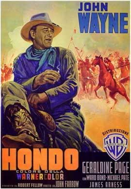 Hondo - 11 x 17 Movie Poster - Italian Style A