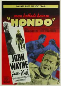 Hondo - 11 x 17 Movie Poster - Swedish Style A