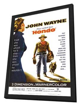 Hondo - 27 x 40 Movie Poster - Style A - in Deluxe Wood Frame