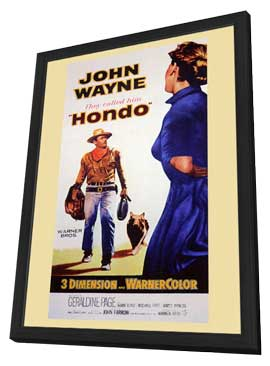 Hondo - 11 x 17 Movie Poster - Style A - in Deluxe Wood Frame