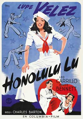 Honolulu Lu - 27 x 40 Movie Poster - Swedish Style A