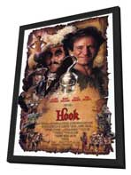 Hook - 11 x 17 Movie Poster - Style B - in Deluxe Wood Frame