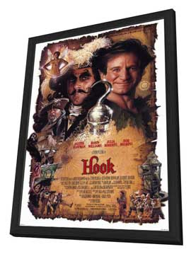 Hook - 27 x 40 Movie Poster - Style A - in Deluxe Wood Frame