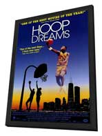 Hoop Dreams - 11 x 17 Movie Poster - Style B - in Deluxe Wood Frame