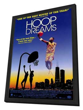 Hoop Dreams - 27 x 40 Movie Poster - Style B - in Deluxe Wood Frame