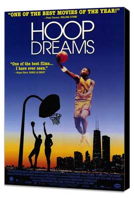 Hoop Dreams - 11 x 17 Movie Poster - Style B - Museum Wrapped Canvas
