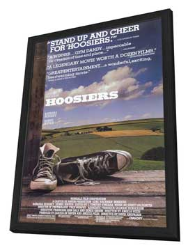 Hoosiers - 27 x 40 Movie Poster - Style A - in Deluxe Wood Frame