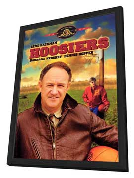Hoosiers - 27 x 40 Movie Poster - Style B - in Deluxe Wood Frame