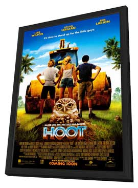 Hoot - 11 x 17 Movie Poster - Style A - in Deluxe Wood Frame