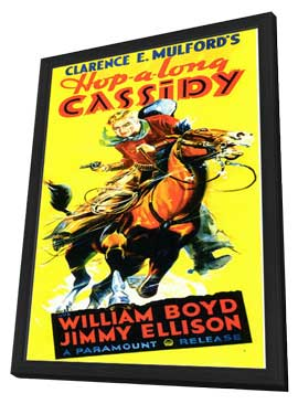 Hopalong Cassidy - 11 x 17 Movie Poster - Style B - in Deluxe Wood Frame