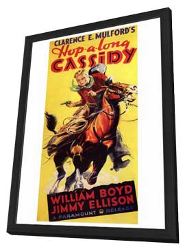 Hopalong Cassidy - 27 x 40 Movie Poster - Style A - in Deluxe Wood Frame