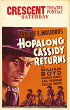 Hopalong Cassidy Returns - 11 x 17 Movie Poster - Style C
