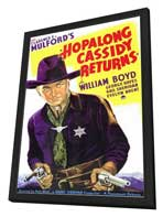 Hopalong Cassidy Returns - 11 x 17 Movie Poster - Style A - in Deluxe Wood Frame