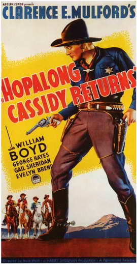 Hopalong Cassidy Returns - 11 x 17 Movie Poster - Style B