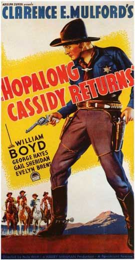 Hopalong Cassidy Returns - 20 x 40 Movie Poster - Style A