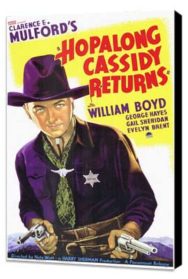 Hopalong Cassidy Returns - 11 x 17 Movie Poster - Style A - Museum Wrapped Canvas