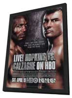 Hopkins vs. Calzaghe - 11 x 17 Movie Poster - Style A - in Deluxe Wood Frame