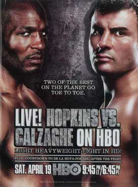 Hopkins vs. Calzaghe - 11 x 17 Movie Poster - Style A