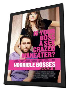 Horrible Bosses - 27 x 40 Movie Poster - Style B - in Deluxe Wood Frame
