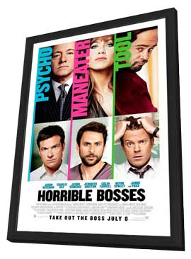 Horrible Bosses - 11 x 17 Movie Poster - Style B - in Deluxe Wood Frame