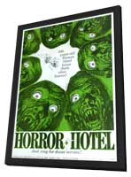 Horror Hotel - 11 x 17 Movie Poster - Style A - in Deluxe Wood Frame