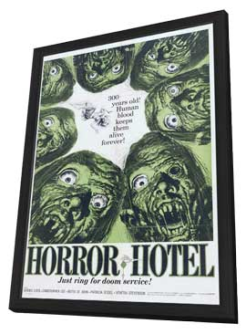 Horror Hotel - 27 x 40 Movie Poster - Style A - in Deluxe Wood Frame