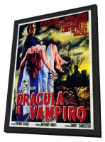 Horror of Dracula - 11 x 17 Poster - Foreign - Style E - in Deluxe Wood Frame