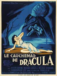 Horror of Dracula - 27 x 40 Movie Poster - French Style A